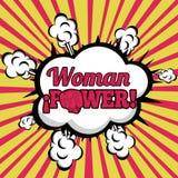 妇女力量漫画 库存照片