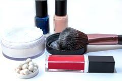 妇女化妆用品 免版税库存图片