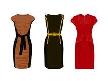 妇女化装舞会服装在图 时髦的礼服紧身的样式 免版税库存图片