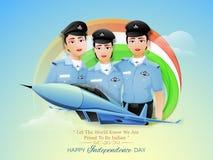 妇女印地安人的美国独立日战斗机飞行员 免版税库存照片