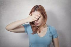 妇女压下 免版税库存图片