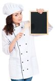 妇女厨师 库存图片
