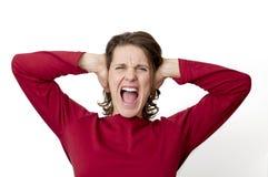 妇女叫喊 免版税库存图片