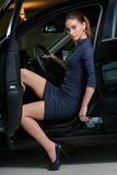 妇女司机 免版税库存照片