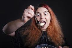 妇女吃 库存图片