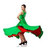 妇女吉普赛佛拉明柯舞曲舞蹈演员 免版税库存照片