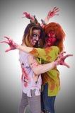 妇女吸血鬼被隔绝 免版税图库摄影