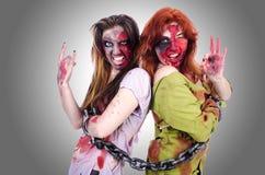 妇女吸血鬼 免版税库存照片