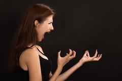 妇女呼喊 免版税图库摄影