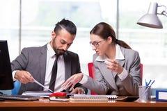 妇女和人企业概念的 免版税图库摄影