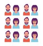 妇女和人表情  免版税图库摄影