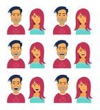 妇女和人表情  免版税库存图片
