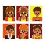 妇女和女孩五颜六色的衣裳的 免版税图库摄影
