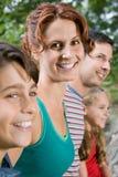 妇女和她的家庭 免版税图库摄影