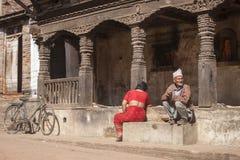 妇女和老人 库存图片