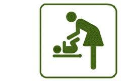 妇女和婴孩的标志 库存照片