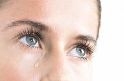 妇女哭泣 免版税库存图片