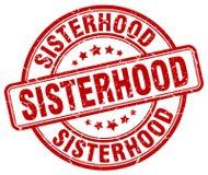妇女团体红色邮票 库存例证