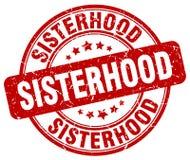 妇女团体红色邮票 向量例证