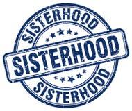妇女团体蓝色难看的东西邮票 向量例证