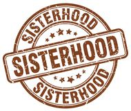 妇女团体褐色邮票 向量例证