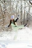 妇女在冬天 免版税图库摄影