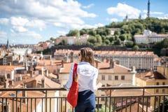 妇女在利昂市 免版税库存图片