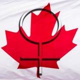 妇女在加拿大 免版税库存图片