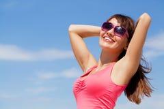 妇女在夏天 免版税图库摄影