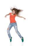 妇女在白色背景的Hip Hop舞蹈家 图库摄影