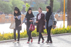 妇女在设拉子,伊朗 免版税图库摄影