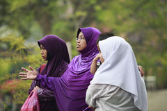 妇女在马六甲 库存照片