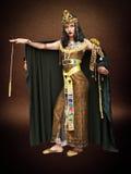 妇女在Cleopatra样式 免版税库存图片