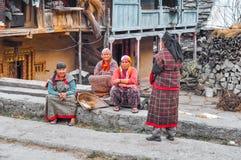 妇女在Manali在喜马偕尔邦 免版税库存照片