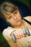 妇女增强的重量 库存照片