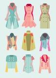 妇女外套和夹克 库存照片