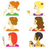 妇女外形 免版税库存图片