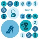 妇女天象集合 免版税图库摄影