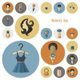 妇女天象集合 免版税库存图片