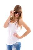 妇女太阳镜 免版税图库摄影