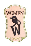 妇女夫人洗手间标志 免版税库存图片
