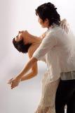 妇女夫妇跳舞 免版税库存照片