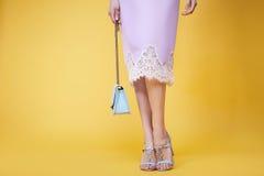 妇女女孩性感的魅力时尚样式衣裳佩带汇集 库存照片