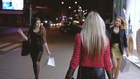 妇女嫉妒fashionista生活方式购物 股票录像