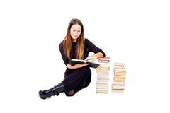 妇女学习 免版税库存图片