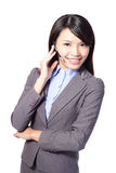 妇女客户支持运算符 免版税库存照片