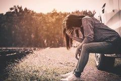 妇女寂寞 免版税库存图片