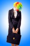 妇女小丑 图库摄影