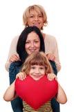 妇女少年和小女孩 库存照片