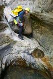妇女峡谷在比利牛斯,西班牙 免版税库存图片